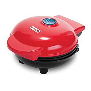 Dash DMS001AQ Mini Maker Electric Round Griddle for Individual Pancakes, Cookies, Eggs & other on the go Breakfast, Lunch & Snacks with Indicator Light + Included Recipe Book – Aqua