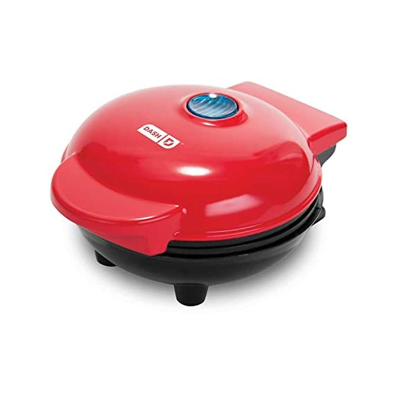 Dash-DMS001WH-Mini-Maker-Electric-Round-Griddle-for-Individual-Pancakes-Cookies-Eggs-other-on-the-go-Breakfast-Lunch-Snacks-with-Indicator-Light-Included-Recipe-Book