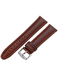 Hadley-Roma Men's MSM881RB-200 20mm Brown Oil-Tan Leather Watch Strap