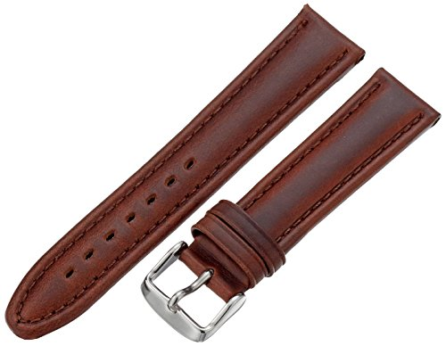 Hadley-Roma Men's MSM881RB-200 20-mm Brown Oil-Tan Leather Watch Strap (Brown Oil Tan Leather)
