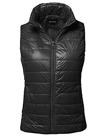 Made by Emma Casual Light Weight Quilted Padding Vest Black S