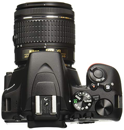 Nikon D3500 W/AF-P DX Nikkor 18-55mm f/3.5-5.6G VR with 16GB Memory Card and Carry Case (Black) 3