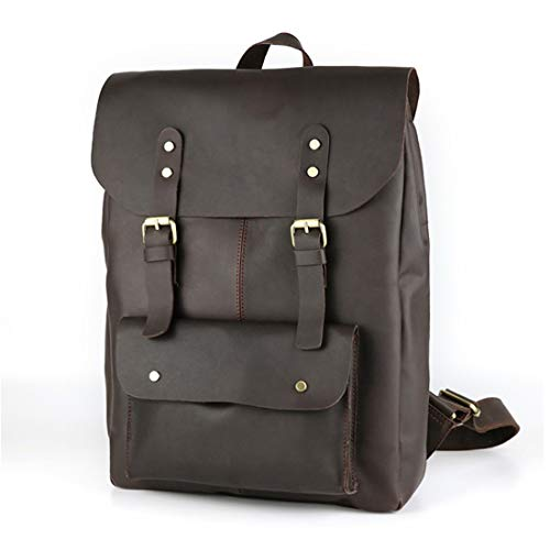 Bags Joyiyuan Brown Backpack color Laptop Leather Business Computer Men Bookbag College School Theft Anti For Backpack Travel Brown2 Soft TwTZH