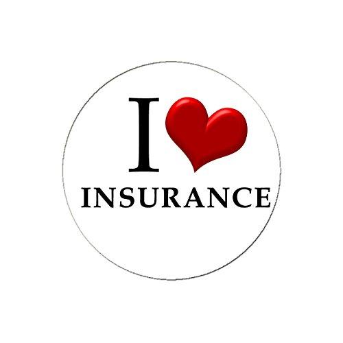 Love Button Pinback (I Love Insurance Pinback Button Pin 1.25