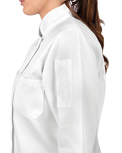 KNG Womens White Classic ¾ Sleeve Chef Coat, S by KNG (Image #4)