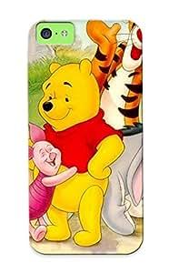 Skywaymobj Perfect Tpu Case For Iphone 5c/ Anti-scratch Protector Case (cartoon Winnie The Pooh Family Negidhi )