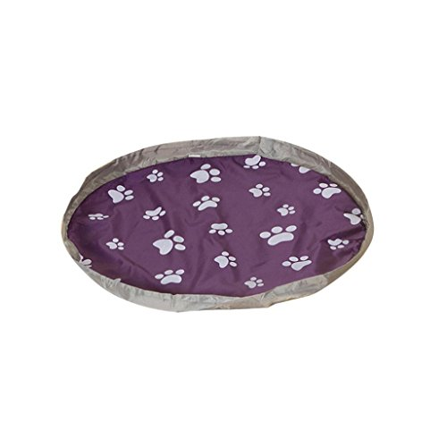 Price comparison product image Muxika Creative Portable Toys Organizer Children's Play Mat and Toys Storage Bag (Small,  Purple)