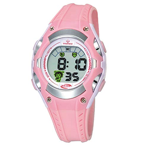 Girls Watches for Kids Sports Running Riding Swimming Climbing Durable Comfortable Multifunction 7 Colors Light LED Waterproof Digital Watch Gift for Girls Age 4-12 328pi