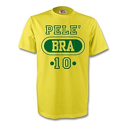 e40038ca3 Amazon.com   Gildan Pele Brazil Bra T-Shirt (Yellow) - Kids   Sports ...
