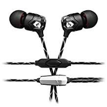 V-MODA Zn In-Ear Modern Audiophile Headphones with 1 Button Remote and Mic, Nero