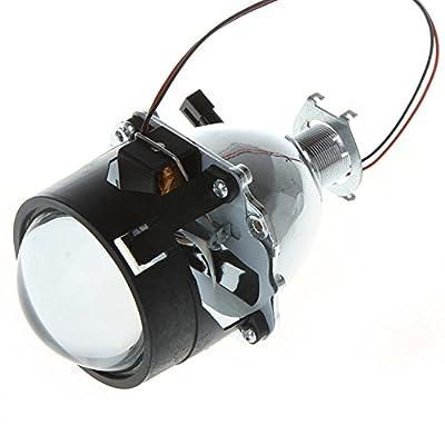 """AmaranTeen - 2.5"""" Mini Car Xenon H1 HID Projector Lens with Shroud"""
