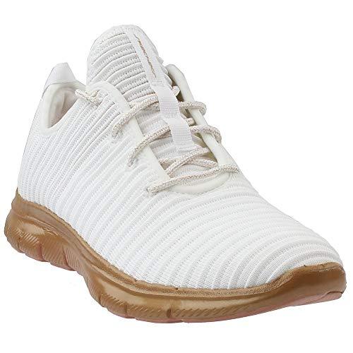 Skechers Women's Flex Appeal 2.0 - Chroma Color White/Gold 9.5 B US
