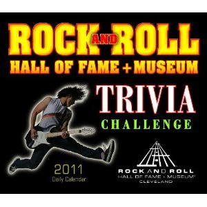 Rock and Roll Hall of Fame Trivia Challenge 2011 Daily Box Calendar