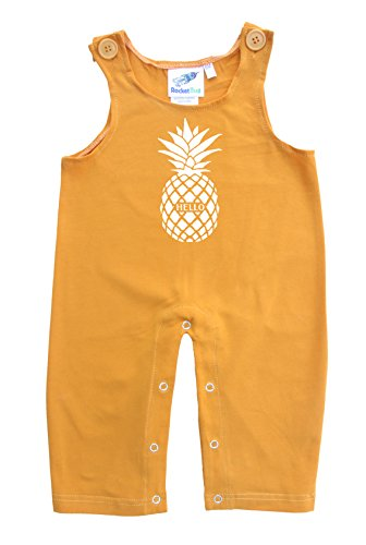 Baby and Toddler Overalls-Pineapple (3T, Mustard)