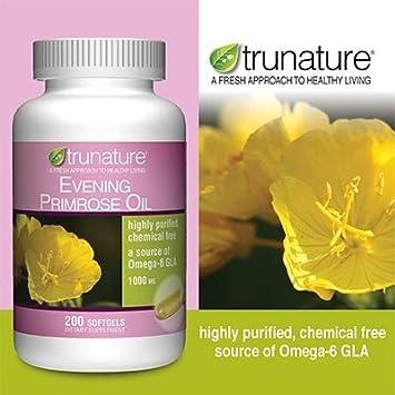 TruNature Evening Primrose Oil 1000 mg, 200 Softgels Personal Healthcare Health Care