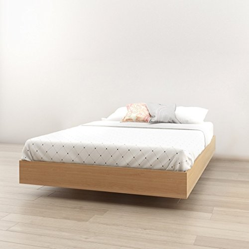 - Nordik 345405 Full Size Platform Bed, Natural Maple