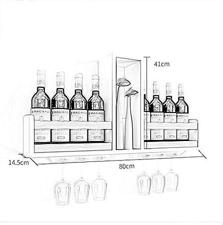 Estante Para Vino Blanco De Montaje En Pared   Soporte Para Botellas Unidad De Almacenamiento De Copa De Champán   Estantes Flotantes Accesorios De Barra Estanterías   Madera Reciclada DFVV