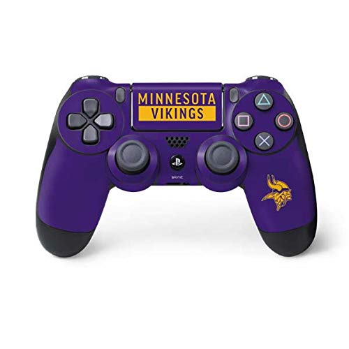 - Skinit Minnesota Vikings Purple Performance Series PS4 Controller Skin - Officially Licensed NFL Gaming Decal - Ultra Thin, Lightweight Vinyl Decal Protection