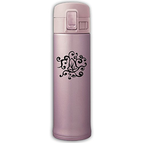 Stainless Steel Vacuum Flask Water Bottle Abstract Leaf Art Silhouette Insulated Travel Mugs