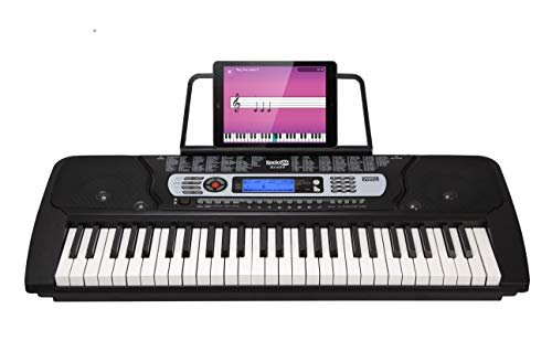 RockJam 54-Key Portable Electronic Keyboard with Interactive LCD Screen & Includes Piano Maestro Teaching App with...