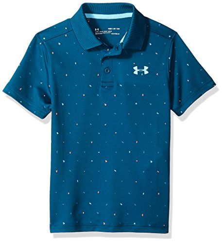 Under Armour Performance Novelty Polo - Techno Teal/Venetian Blue, Youth Large