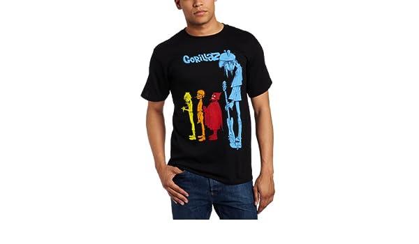 FEA Merchandising Gorillaz Rock The House - Camiseta para Hombre - Negro - Medium: Amazon.es: Ropa y accesorios