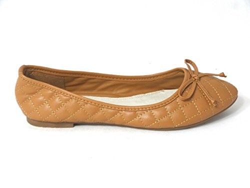 SKO'S , Chaussures plates fille femme Tan (101-1)