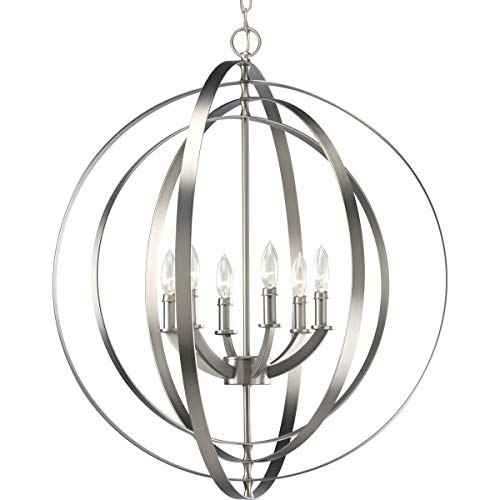 Progress Lighting P3889-126 6-60-Watt Chandelier Sphere Foyer Lantern, 27.75 x 27.75 x 30