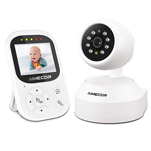 Baby Monitor - Video Baby Monitor with Camera, Remote Pan-Tilt, HD Display, Super Clear Night Vision, and Two-Way...