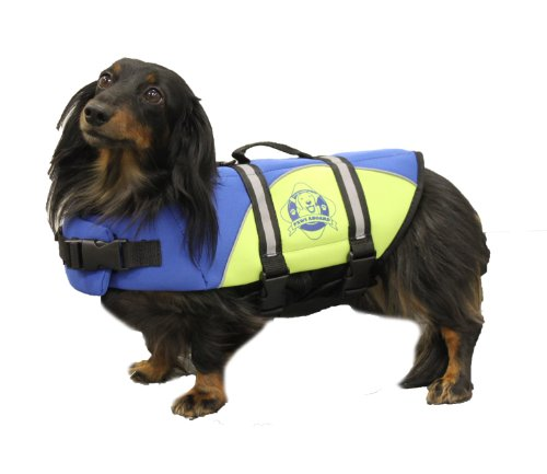 Paws Aboard Extra Small Neoprene Designer Doggy Blue / Yellow Life Guard / Jacket Upto 7-15 lbs by Leadoff