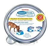Bamboo Feed & Toss 12oz Disposable Dog Bowl Liners 12 Pack