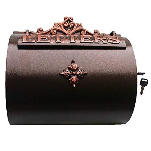 Mailbox - Cast Aluminum, Garden Home Decor Wrought Iron Wall Hanging Outdoor European Letter Box, Suitable For Villas, Courtyards, Home - 33X12.5X32.5cm Outdoor mailbox