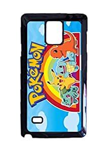 Engood Design Pokemon Charmander,Pikachu,Squirtle,Bulbasaur Case Durable Unique Design Hard Back Case Cover For Samsung Galaxy Note 4 New