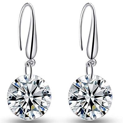 9b714bcfa 925 Sterling Silver Crystal Drop Earrings: Amazon.co.uk: Jewellery