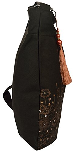 bag canvas Sling printed Pick copper golden and Pocket black wzZ8Y