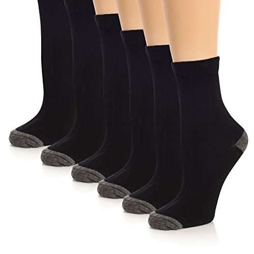 The Right Fit Little Boys Cotton Sports Uniform Solid Crew Style Dress Socks- 9-11, Black, 6 (Solid Youth Socks)