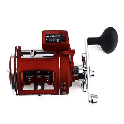 (WuLian 12 Ball Bearings High Speed Fishing Reel with Electric Depth Counting Multiplier 30D Right Hand)