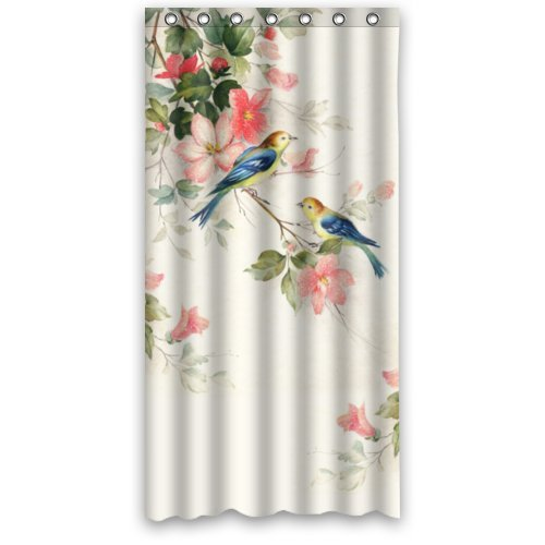 Hipster Hummingbird Polyester Fabric Waterproof Shower Cu...