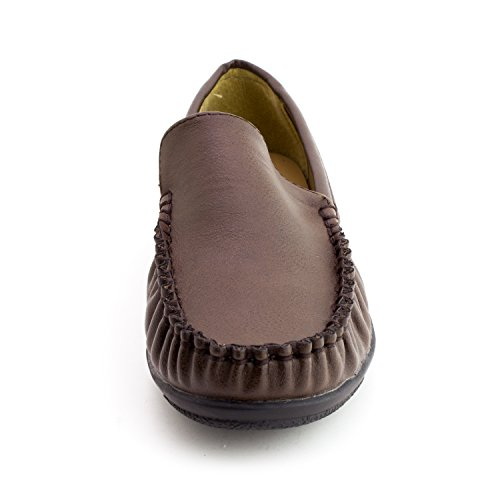 Kali Womens Faux Leather Thick Footbed Comfort Slip-On Shoes (Adults) Brown 252WvI