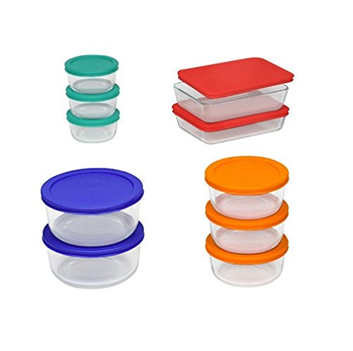 Pyrex 20-pc. Storage Set with Color Lids 1113645