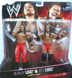 WWE Family Fury: Jimmy Uso And Jey Uso Figure 2-Pack - Series #11 by Mattel