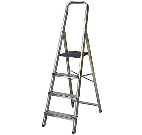 ALTIPESA AF0104A Escalera de aluminio de 4 pelda&ntildeos fabricada en ESPA&NtildeA (EN 131), Standard: Amazon.es: Bricolaje y herramientas