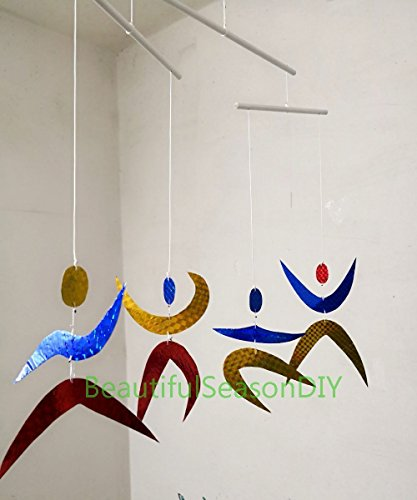 Special Glitter The Montessori inspired dancers hanging mobile blinking red blue yellow Special Glitter Baby toy