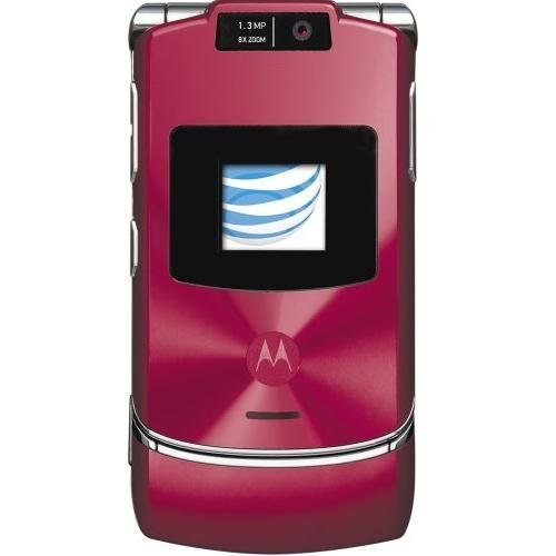 Motorola RAZR V3xx Red No Contract AT&T Cell Phone