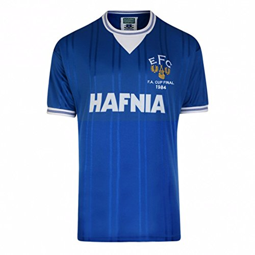 Everton FC Mens Official 1984 FA Cup Final Shirt (2XL) (Blue)