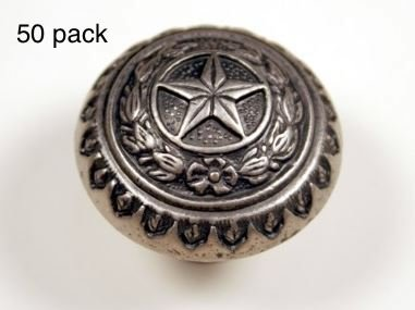 TEXAS STATE SEAL KNOB AS WESTERN CABINET HARDWARE DRAWER PULLS STAR KNOBS (50)