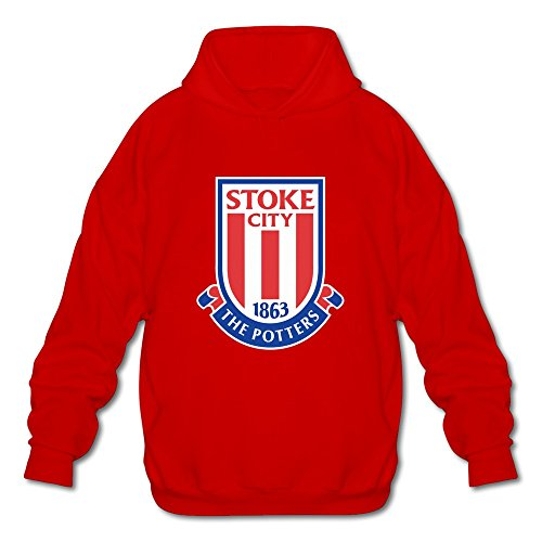 Over Logo Sweater (Men's Stoke City Fc Logo Long-Sleeve Hoodies Sweatshirt Red Size S Hot Topic By Rahk)