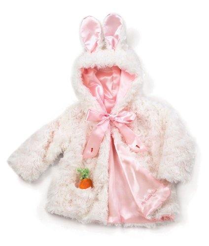 The Original Bunny Cuddle Coat, White, 6-12 Months