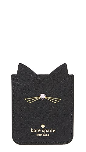Kate Spade New York Embellished Cat Adhesive Phone Pocket