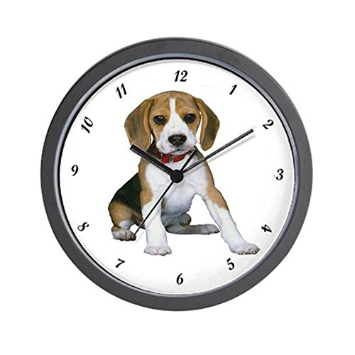 CafePress - Boss Beagle Puppy Wall Clock - Unique Decorative 10